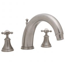 Georgian Three-Hole Bath Filler with 255mm Spout and Crosstop Handles