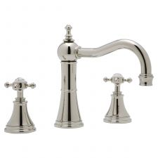 Georgian Three-Hole Deck-Mounted Basin Mixer with Country Spout and Crosstop Handles