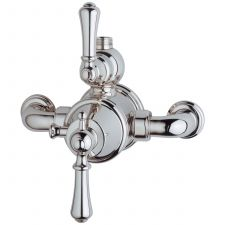 Georgian Exposed Thermostatic Shower Mixer with Lever Handles