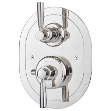 Contemporary Concealed Thermostatic Shower Mixer with Lever Handles