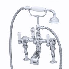 Traditional Deck-Mounted Bath Shower Mixer with Lever Handles