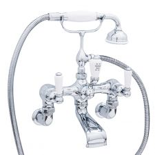 Traditional Wall-Mounted Bath Shower Mixer with Lever Handles