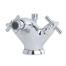 Contemporary Monobloc Bidet Mixer with Crosstop Handles