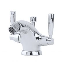 Contemporary Monobloc Bidet Mixer with Lever Handles