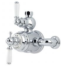 Traditional Exposed Thermostatic Shower Mixer with Lever Handles