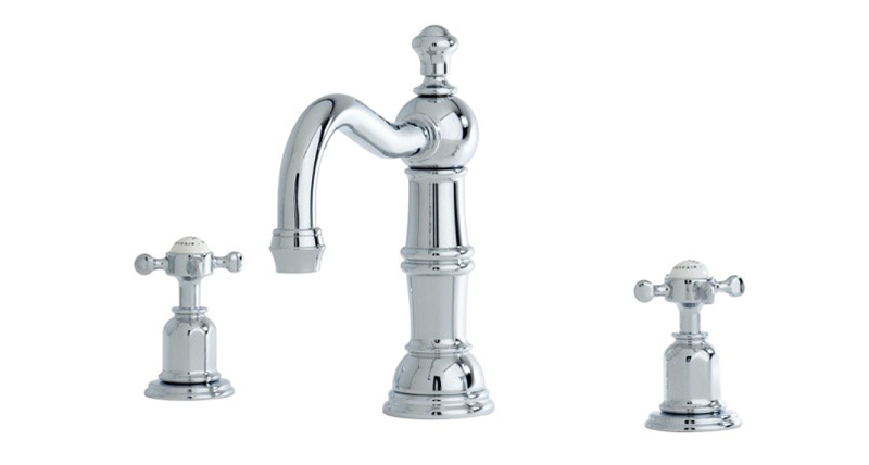 Perrin & Rowe 3721 Traditional Basin Mixer with Country Spout